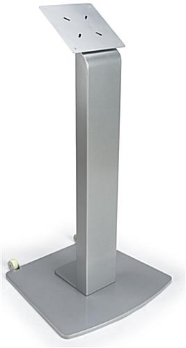 Silver Touch Screen Stand with Wheels