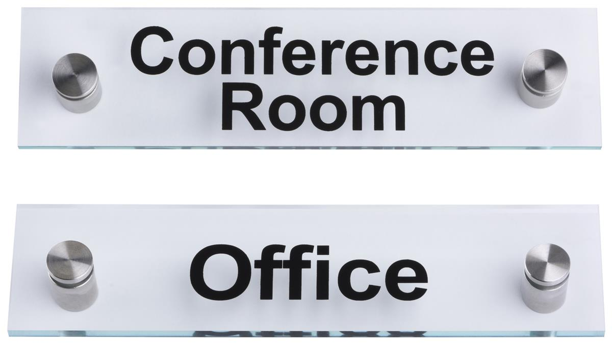 conference room office door signs acrylic with standoffs