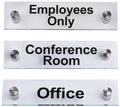 "Acrylic Business Standoff Signs, 8"" Wide"