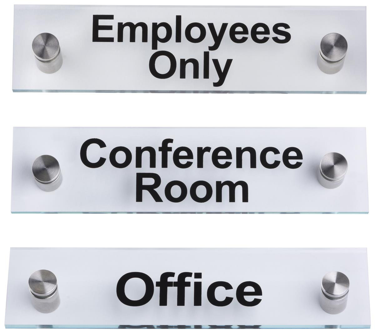 acrylic office signs pre printed business signage