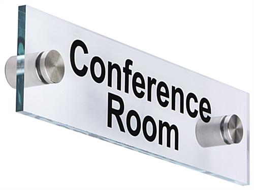 Acrylic Office Room Signs with Green Edges