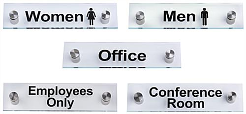 Acrylic Office Room Signs, Set of 5