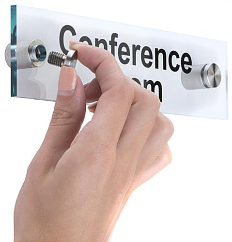 """Conference Room"" Sign, 2"" Tall"