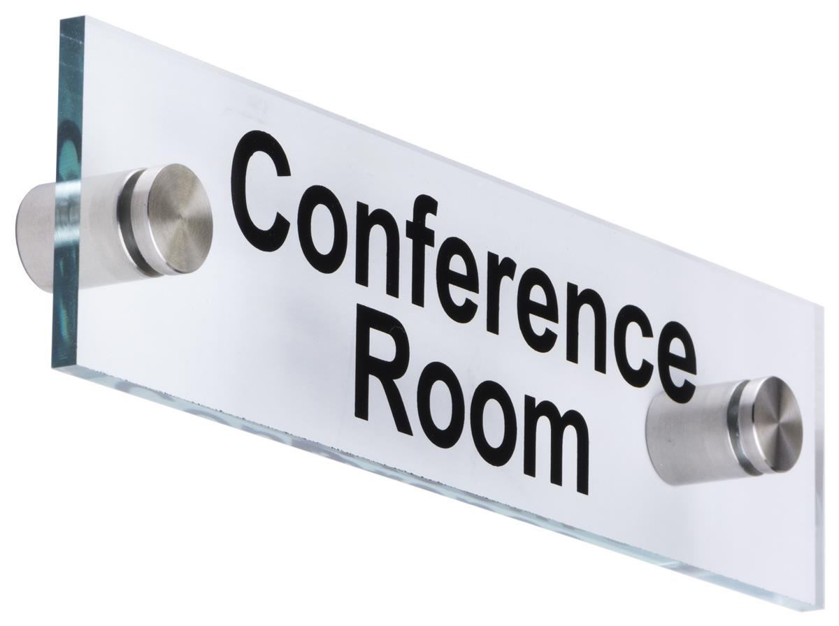 Quot Conference Room Quot Standoff Signs Through Grip Spacers