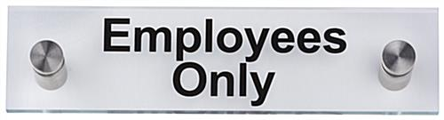 """Employees Only"" Standoff Sign, Acrylic"