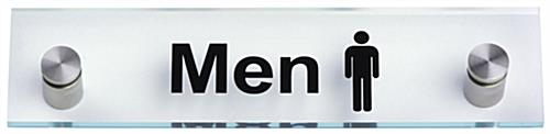 """Men"" Bathroom Sign, Weighs 1 lb"