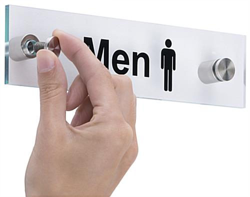 """Men"" Bathroom Sign with Binding Screws"