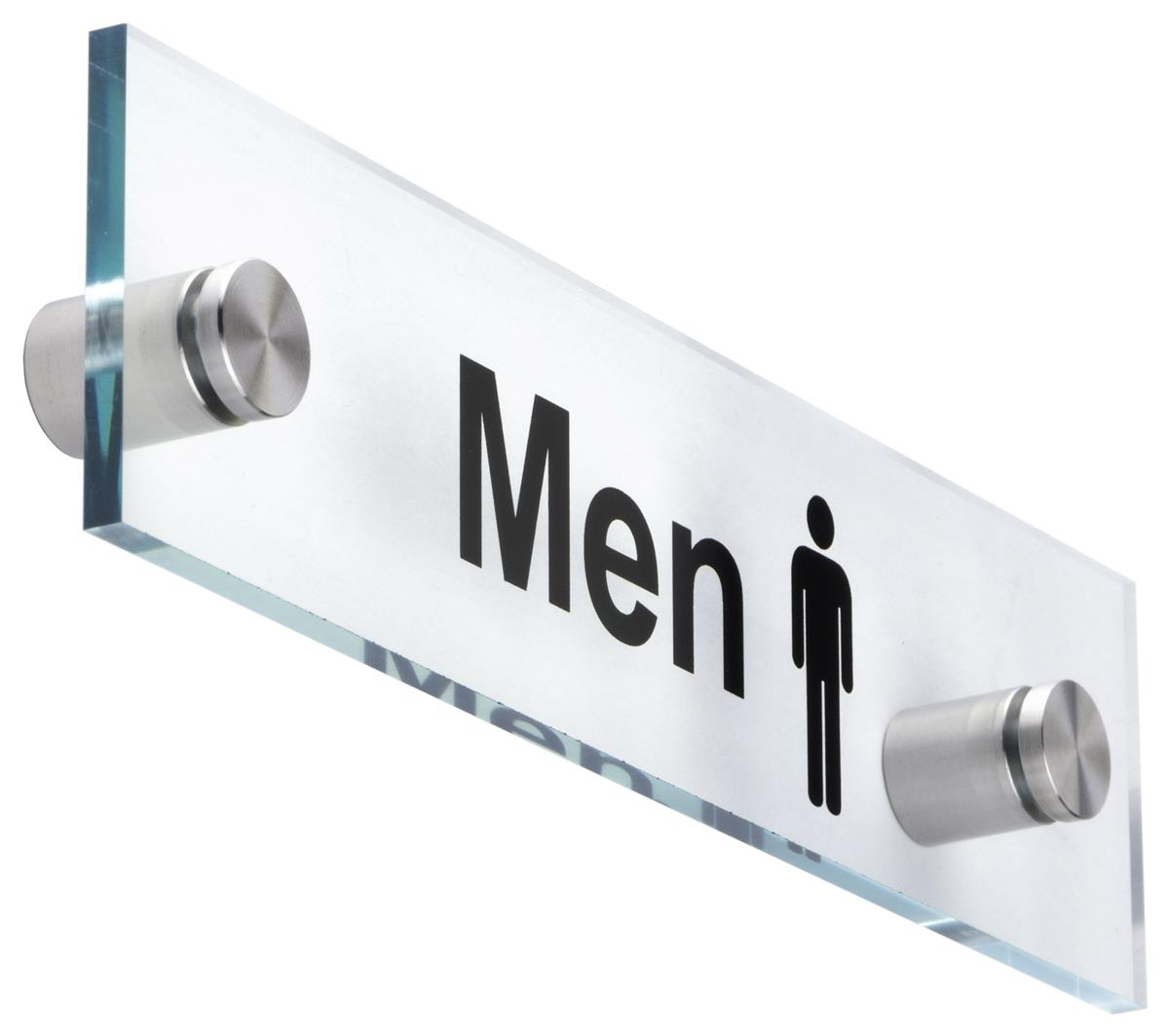 mens bathroom sign. u201cmenu201d bathroom sign clear with standoffs mens r
