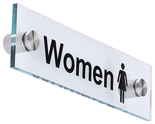 """Women"" Bathroom Sign, Weighs 1 lb"