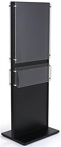 Dual 22 x 28 Black Wooden Poster Stand for Retail