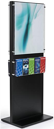 Dual 22 x 28 Black Wooden Poster Stand with Removable Standoffs