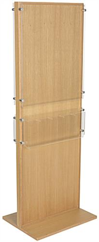 Double-Sided Poster Stand With 10 Brochure Holders, Plastic Panel