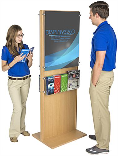 Double-Sided Poster Stand With 10 Brochure Holders for Advertisements