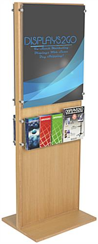 Freestanding Double-Sided Poster Stand With 10 Brochure Holders