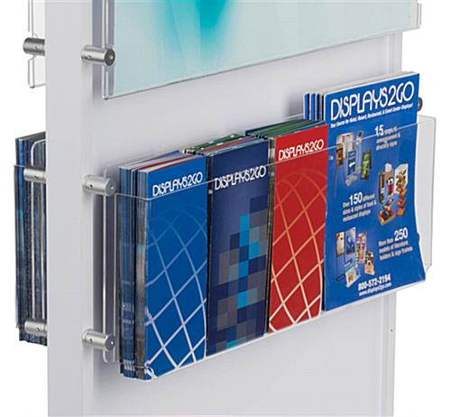 Poster and Brochure Combo Display Adjust Rack for Larger Media