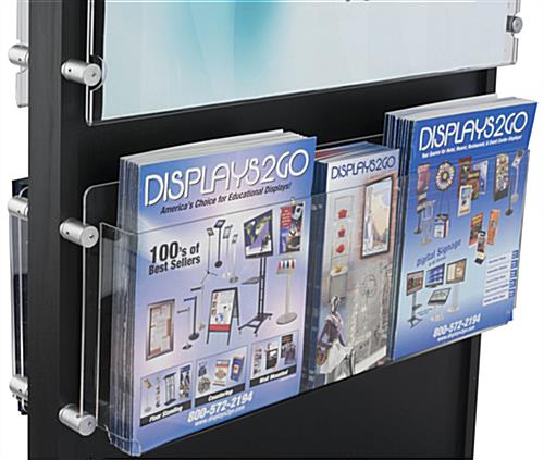 Free Standing 20 Pocket Brochure Holder with Removable Pegs
