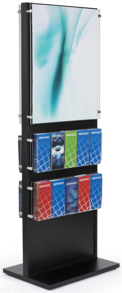 Free Standing 20 Pocket Brochure Holder 22 X 28
