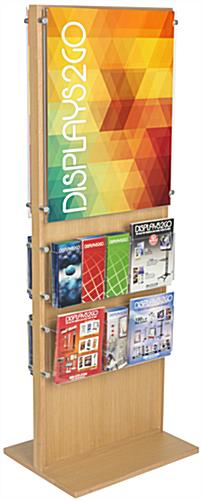 Durable Two-Sided Wooden Poster Display With 20 Pockets