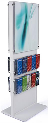 Publication and Poster Combo Stand with Acrylic Panel