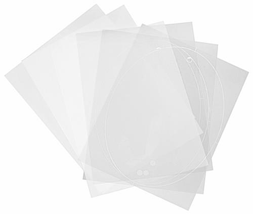 Replacement film kit for DSIGN108OV signage for laser printers