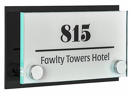 Wall Mounted Architectural Sign with Backer