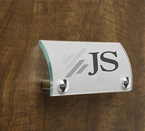 Office Name Sign 6 X 3 Curved Door Plate
