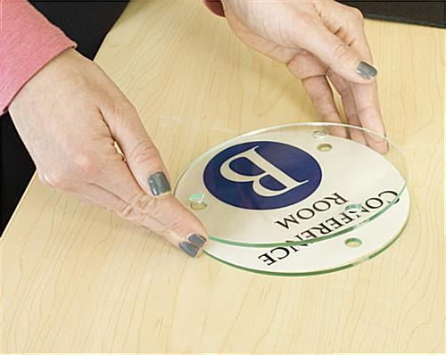 Acetate replacement film set for DSIGN6CIRC sign holders