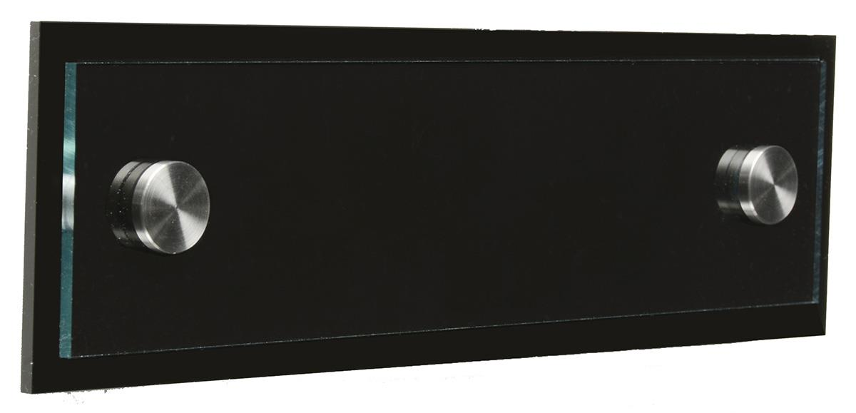 Office Door Name Signs With Black Back Plate