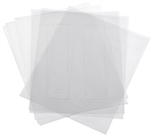 Replacement Printable Film Sheets for DSIGN82, DSIGN82BK