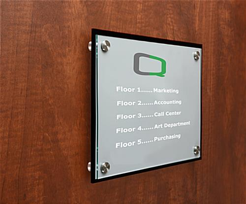 corporate door signs | customizable name plates with standoffs