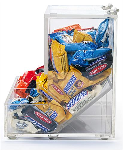 clear plastic candy bins