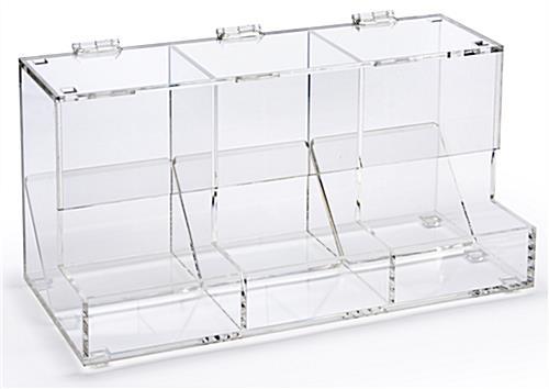 Acrylic Retail Bin Store Merchandising Fixture