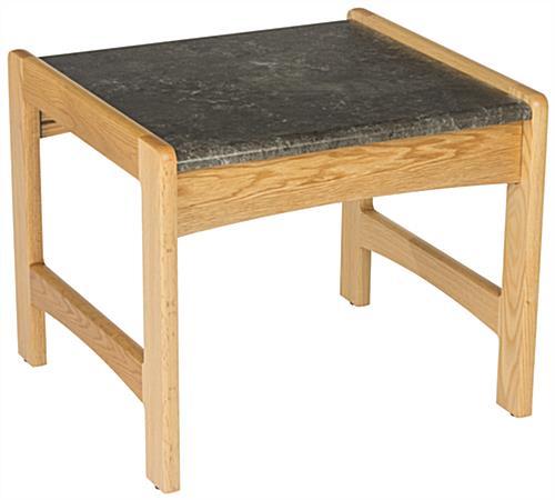light oak office end table wood with black laminate top. Black Bedroom Furniture Sets. Home Design Ideas