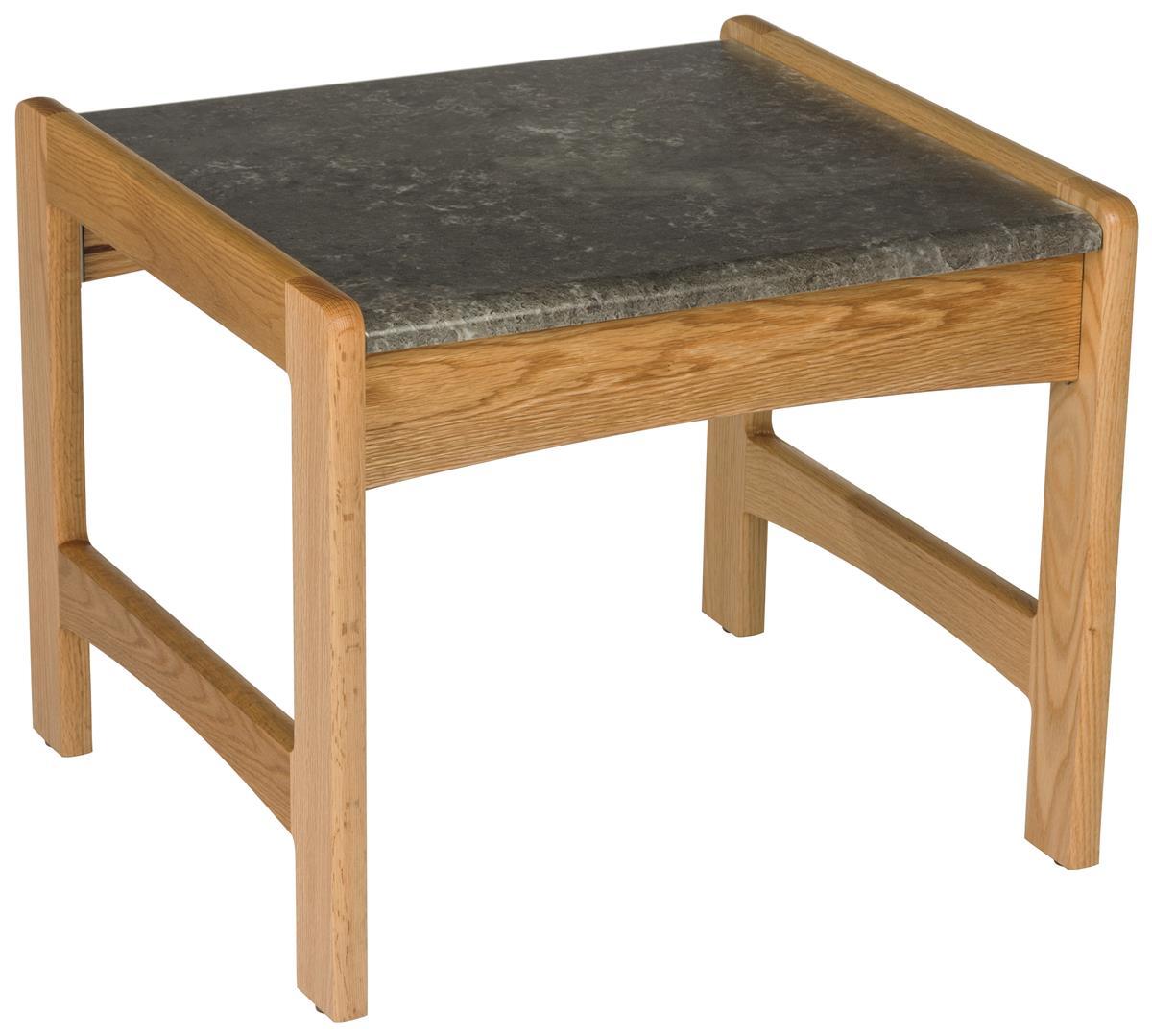 Medium Oak Office End Table No Tools