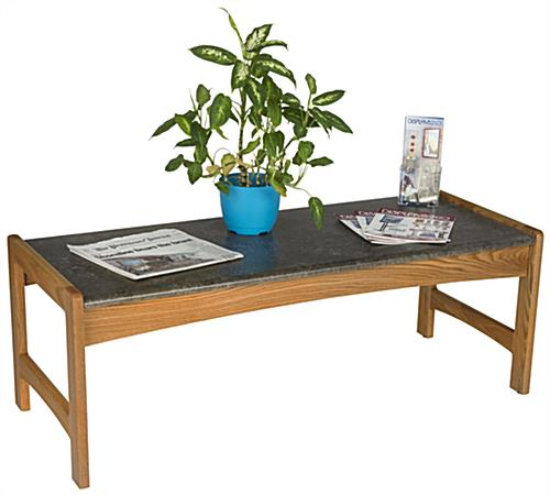 Waiting Room Coffee Table with Black Laminate Top