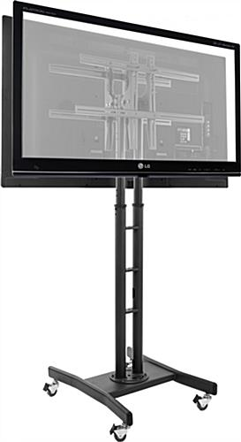Double Sided Tv Stand 2 Adjustable Mounts For 32 65