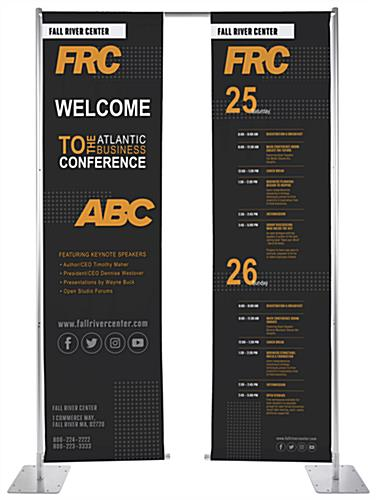 Custom hanging retractable banner stand with full color dye sublimation printing