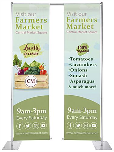 Custom hanging retractable banner stand with weighted base