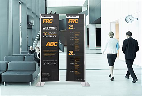 Custom hanging retractable banner stand with floor standing design