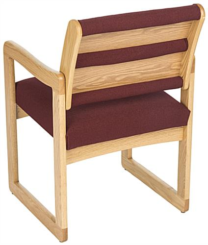 Burgundy Waiting Room Chair, 400 lbs Weight Capacity