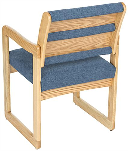 "Blue Waiting Room Chair with 20"" Seat Depth"