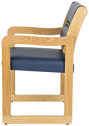 "Blue Waiting Area Chair, 21.5"" Overall Width"