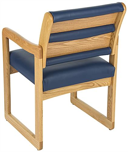 "Blue Waiting Area Chair, 33.5"" Overall Width"