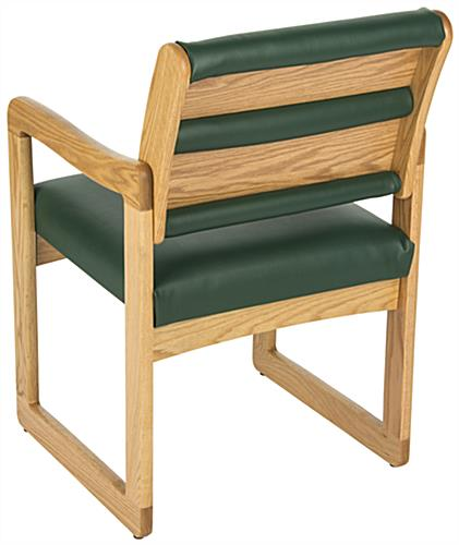 Green Reception Area Chair, Easy Assembly