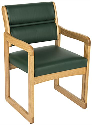 Green Reception Area Chair, Weighs 28 lbs