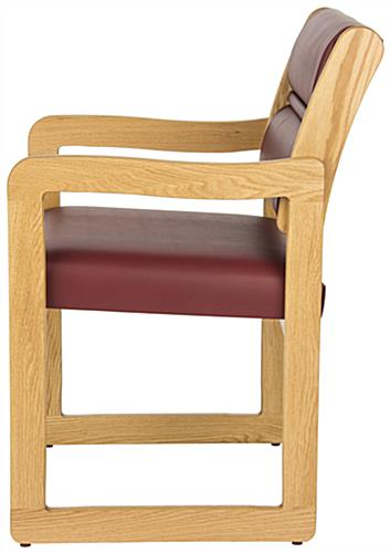 Quot Wine Quot Reception Area Chair Wooden Build With Vinyl