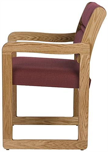 "Burgundy Lobby Chair, 20"" Seat Depth"