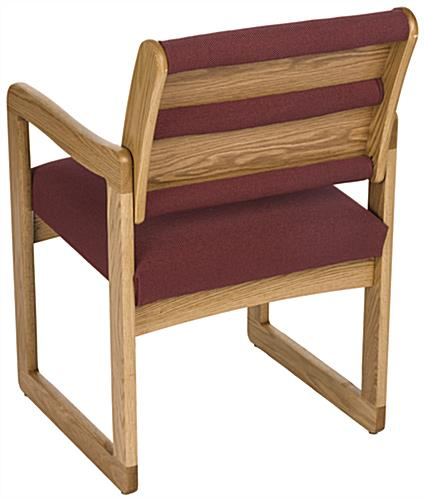 Burgundy Lobby Chair, 400 lbs Weight Capacity
