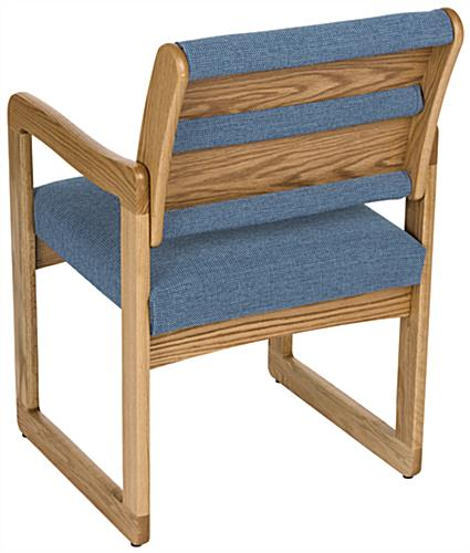 "Blue Office Waiting Room Chair, 15"" Backrest Height"