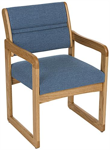 Blue Office Waiting Room Chair, Weighs 28 lbs